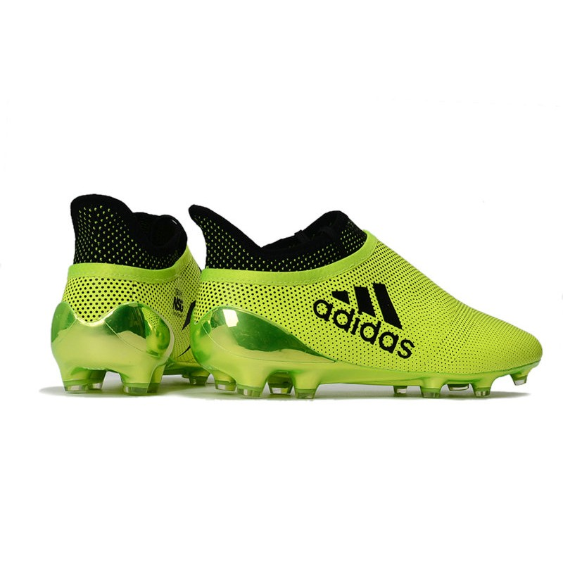 b6c02e7b9 adidas Men s X 17+ PURESPEED FG Soccer Cleats - Yellow Black
