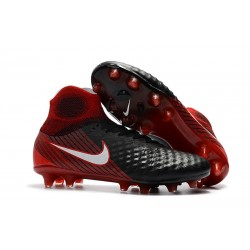 Nike New Magista Obra 2 FG Football Boots Black Crimson