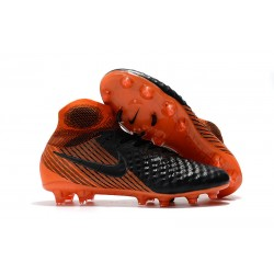 Nike New Magista Obra 2 FG Football Boots Black Orange