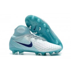 Nike New Magista Obra 2 FG Football Boots White Blue