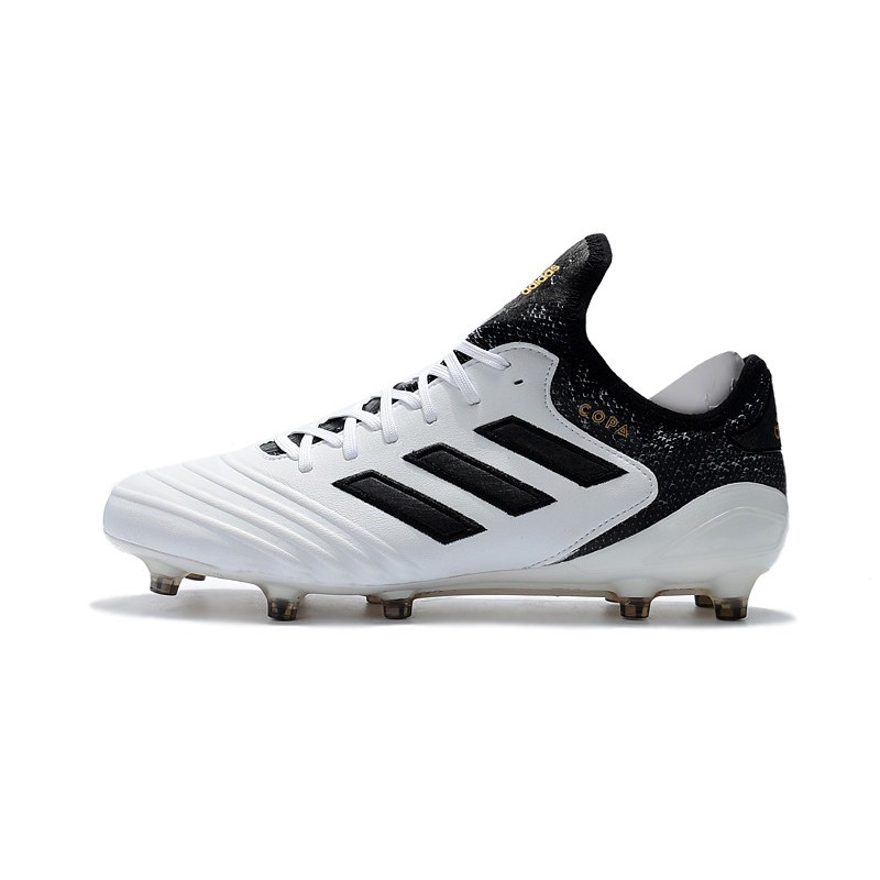 b4510eb93 Adidas Copa 18.1 FG K-leather Soccer Cleats - White Black Gold