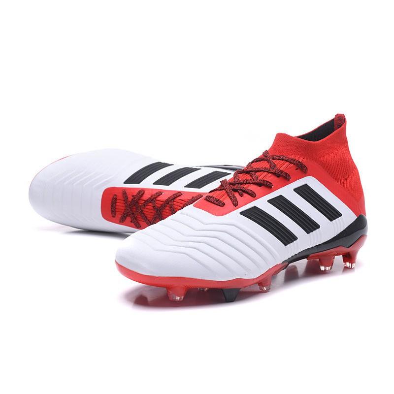 b71b71fb9e1 New adidas Predator 18.1 FG Football Boots - White Red Black