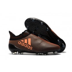 adidas Men's X 17+ PURESPEED FG Soccer Cleats - Brown Orange