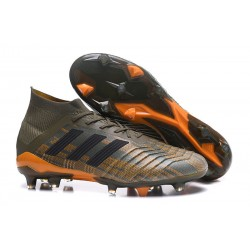 New adidas Predator 18.1 FG Football Boots - Olive Green Orange