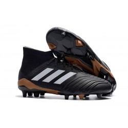 New adidas Predator 18.1 FG Football Boots - Black White