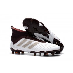 New adidas Predator 18.1 FG Football Boots - White Brown