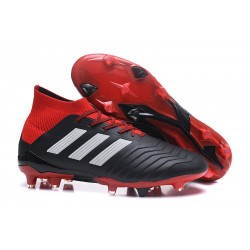 New adidas Predator 18.1 FG Football Boots - Black White Red