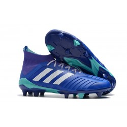 New adidas Predator 18.1 FG Football Boots - Blue White