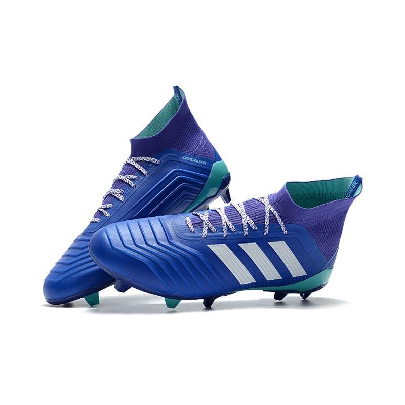 fa5d505cc New adidas Predator 18.1 FG Football Boots - Blue White