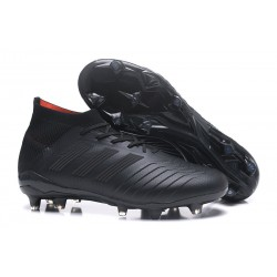 New adidas Predator 18.1 FG Football Boots - Full Black