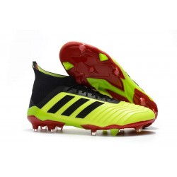 New adidas Predator 18.1 FG Football Boots - Yellow Black