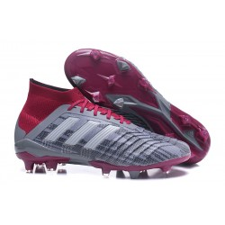 New adidas Predator 18.1 FG Football Boots - Grey Red