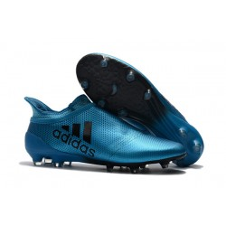 adidas Men's X 17+ PURESPEED FG Soccer Cleats - Blue Black