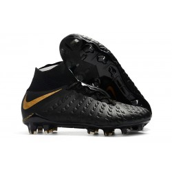 Nike Hypervenom Phantom 3 Dynamic Fit FG Cleats - Black Gold