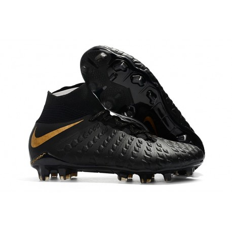 nouveau produit 44d08 24441 Nike Hypervenom Phantom 3 Dynamic Fit FG Cleats - Black Gold
