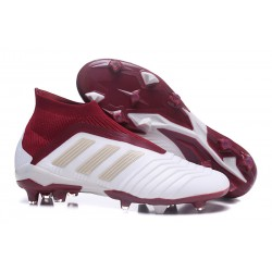 New adidas Predator 18+ FG Firm Ground Boots - White Red