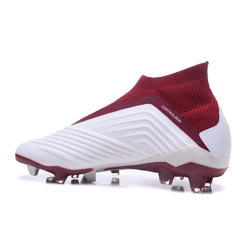 3ea15e2b0b82 New adidas Predator 18+ FG Firm Ground Boots - White Red