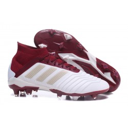 2018 New adidas Predator 18.1 FG Football Boots - White Red