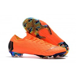 Nike 2018 New Mercurial Vapor XII Elite FG Football Boots Orange Black