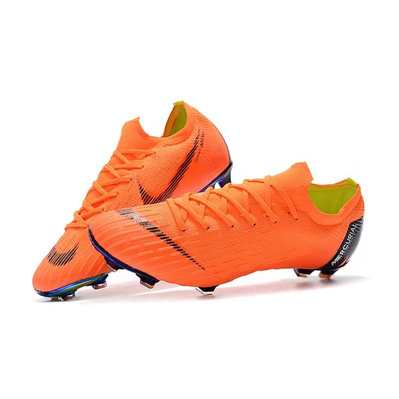 Nike 2018 New Mercurial Vapor XII Elite FG Football Boots Orange Black 77ffef475f296