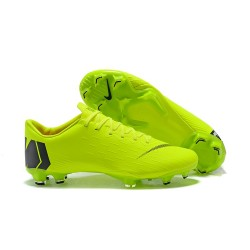 Nike 2018 New Mercurial Vapor XII Elite FG Football Boots Green Black