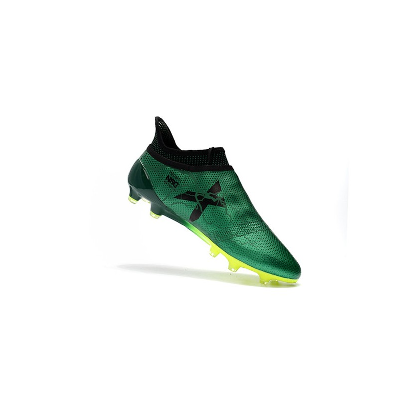 4cfefbfcc adidas Men s X 17+ PURESPEED FG Soccer Cleats - Green Black