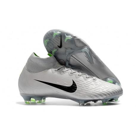 venta de liquidación Nueva York amplia selección Nike Mercurial Superfly VI Elite FG Football Boots -Silver Black