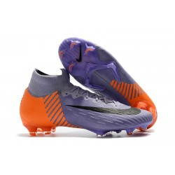 Nike Mercurial Superfly 6 Elite FG New Mens Cleats - Purple Orange