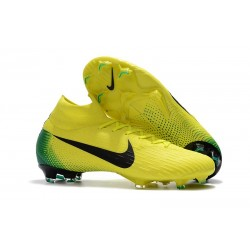Nike Mercurial Superfly 6 Elite FG New Mens Cleats - Yellow Black