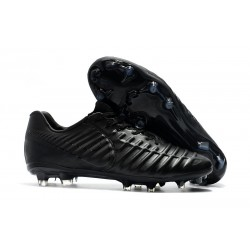 Nike Tiempo Legend VII FG K-Leather Soccer Cleats - All Black