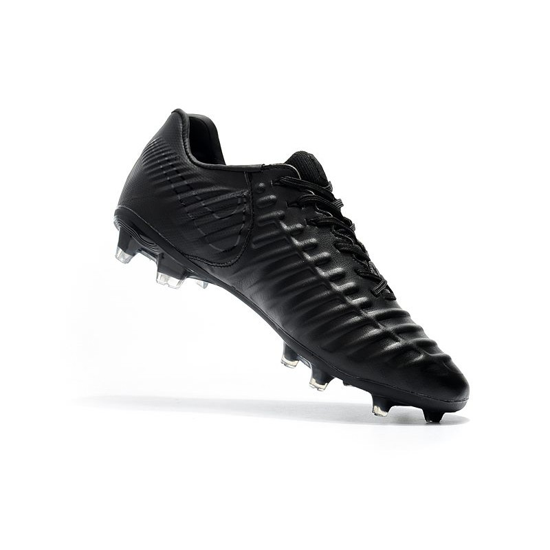 80b902a75 Nike Tiempo Legend VII FG K-Leather Soccer Cleats - All Black