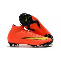 Nike Mercurial Superfly 6 Elite FG New Mens Cleats - Orange Yellow