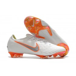 Nike 2018 New Mercurial Vapor XII Elite FG Football Boots White Orange Gray