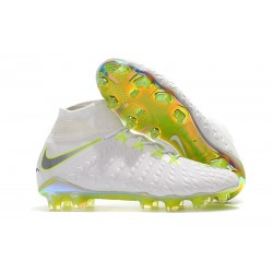 Nike Hypervenom Phantom 3 Dynamic Fit FG Cleats - White Grey Volt