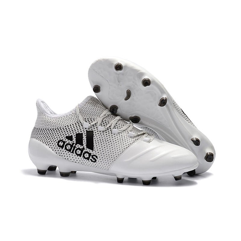 Buena suerte zona Descomponer  adidas ACE 17.1 Leather FG Soccer Boots White Black