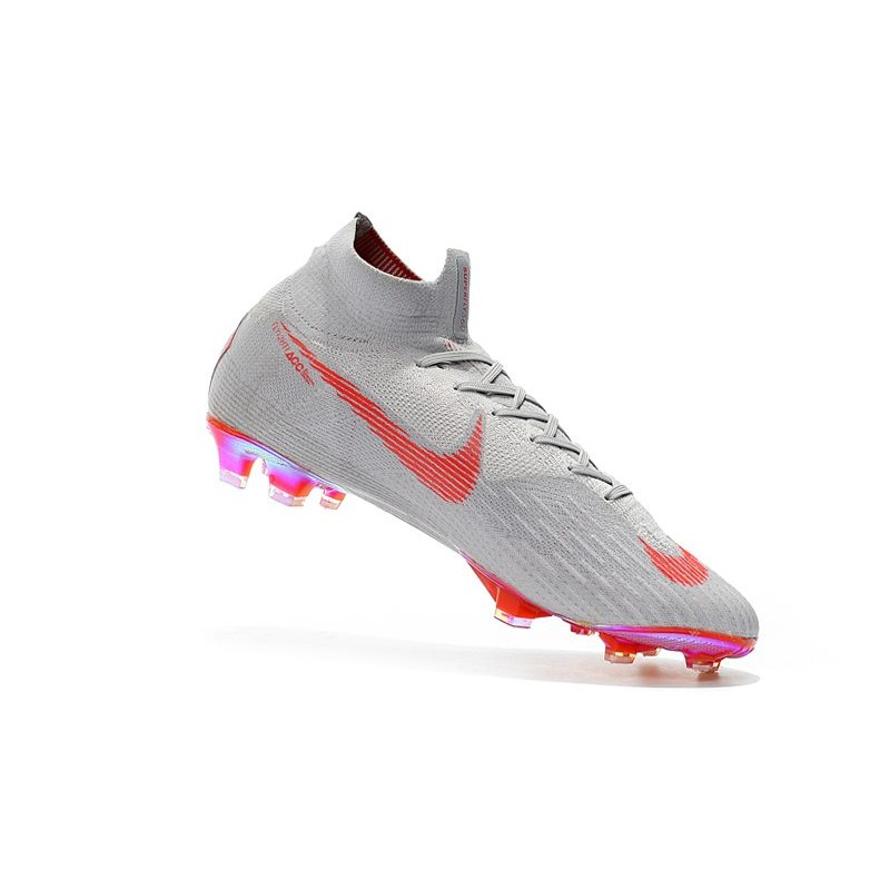 magasin en ligne 762e1 3d803 Nike Mercurial Superfly 6 Elite FG New Mens Cleats - Gray Red