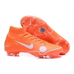 Nike Mercurial Superfly 6 Elite FG New Mens Cleats -Off White Orange