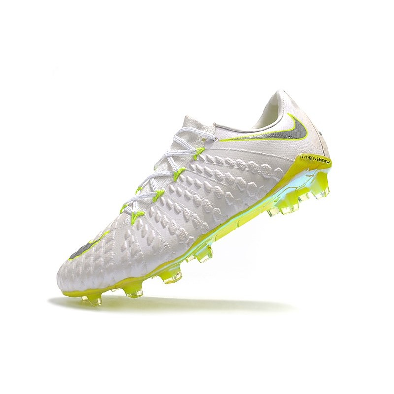 4c7a39799 Nike Hypervenom Phantom 3 FG Neymar Football Boots - White Grey