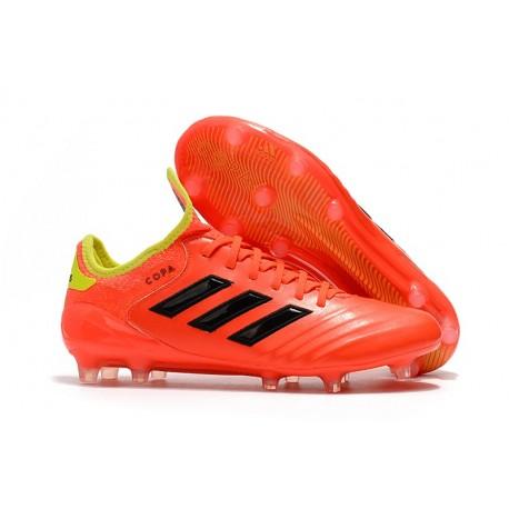 Adidas Copa 18.1 FG K-leather Soccer Cleats - Orange Black 483c0f8c5