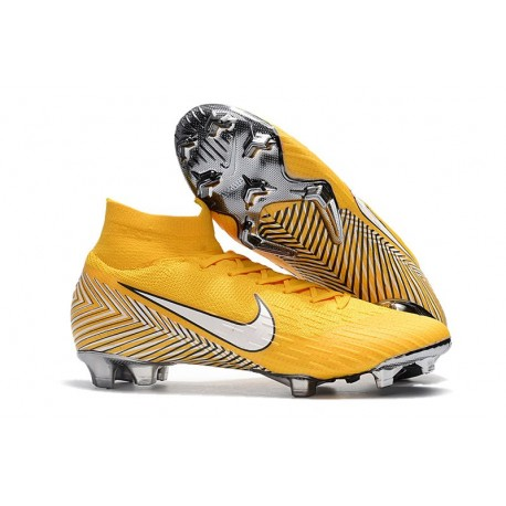 online retailer bae95 7dd30 Nike Mercurial Superfly 6 Elite FG Neymar World Cup Cleats - Yellow White