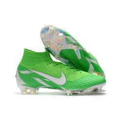 Nike Mercurial Superfly 6 Elite FG New World Cup Cleats - Green Silver