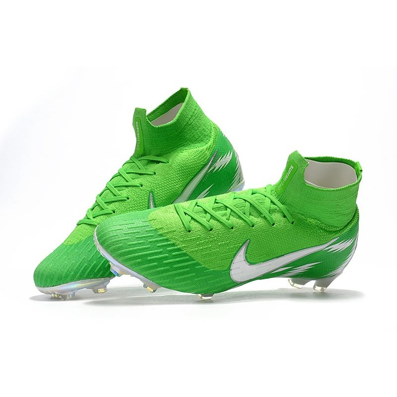 free shipping f1201 aac0c Nike Mercurial Superfly 6 Elite FG New World Cup Cleats - Green Silver