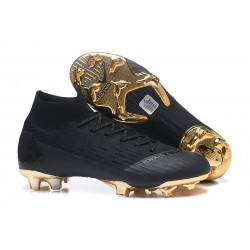 Nike 2018 Mercurial Superfly VI Elite FG Football Boots - Black Gold