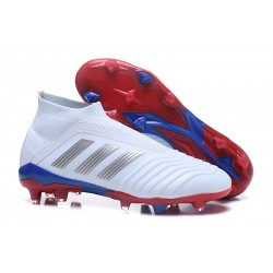 adidas Predator Telstar 18+ FG Firm Ground Boots - White Silver Red