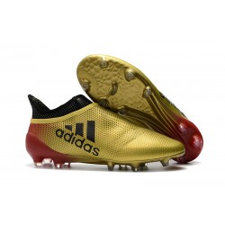 adidas Men's X 17+ PURESPEED FG Soccer Cleats - Gold Red