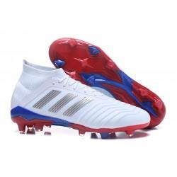 adidas 2018 Predator 18.1 Telstar FG Soccer Cleats - White Silver