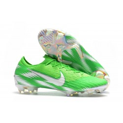 Nike 2018 New Mercurial Vapor XII Elite FG Football Boots Green Silver