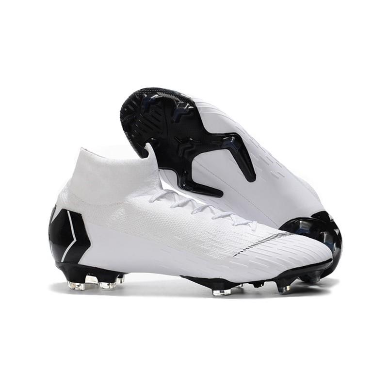 4ffc25cdf44 Nike 2018 Mercurial Superfly VI Elite FG Football Boots - White Black