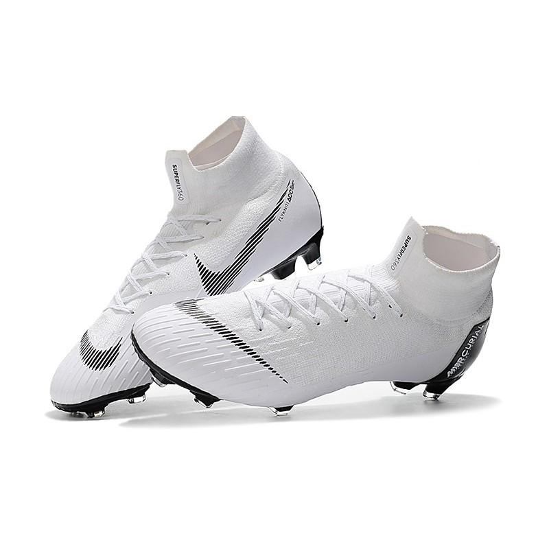 pretty nice 52aae d31bd Nike 2018 Mercurial Superfly VI Elite FG Football Boots - White Black