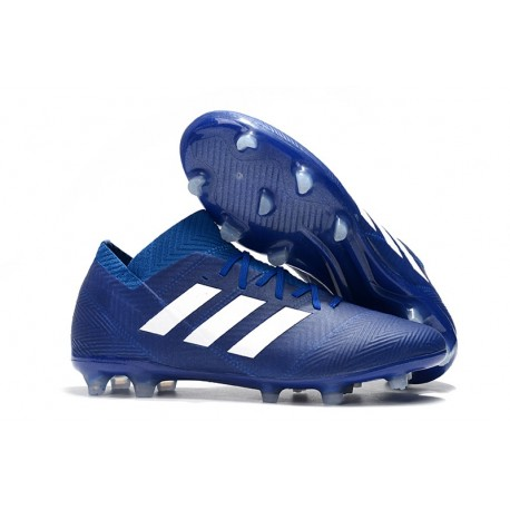 259c7b23dde World Cup adidas Nemeziz 18.1 Messi FG Soccer Cleats - Blue White